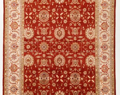 Red Chobi Ziegler Oreintal  Rug with Borders -rugs
