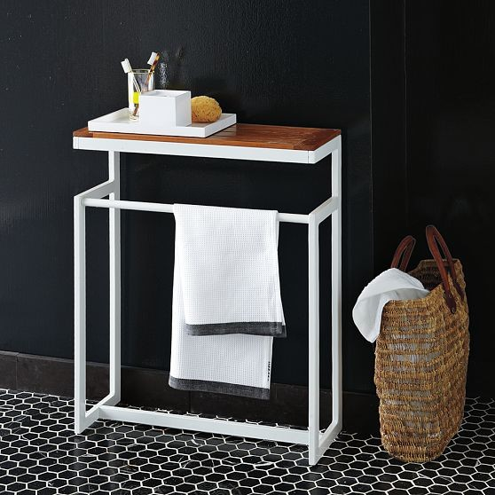 2 x 2 towel rack modern bathroom vanities and sink consoles by west elm - West elm bathroom storage ...