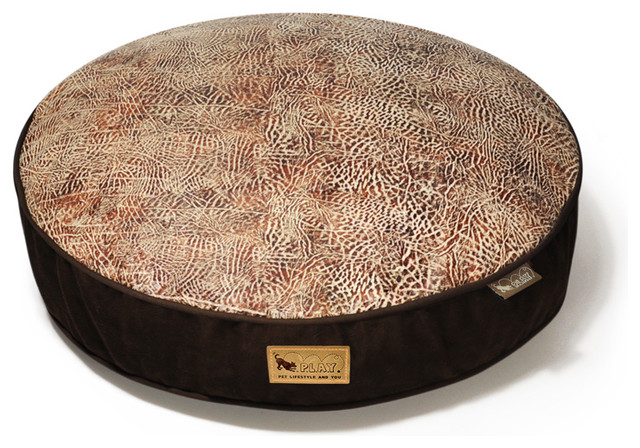 Round Bed - Savannah - Brown - L contemporary-dog-beds