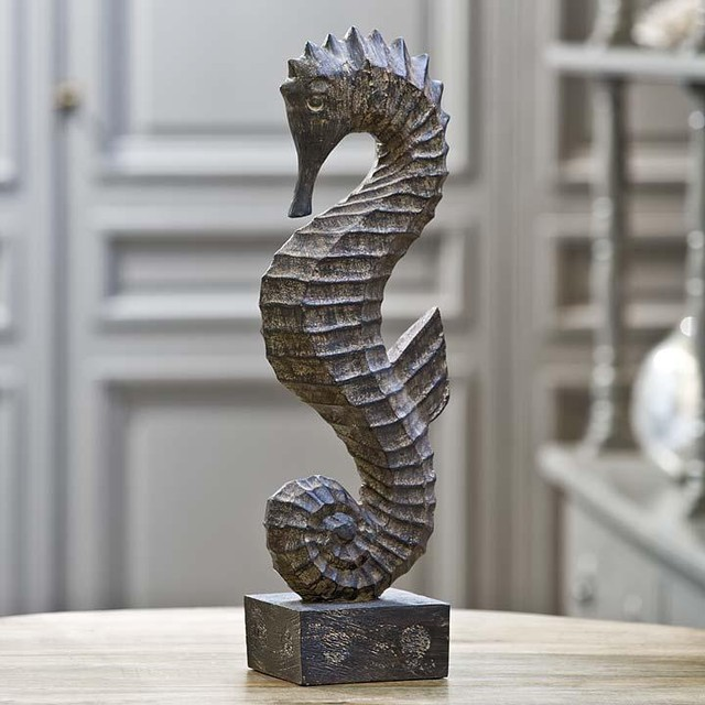 Regina Andrew Wood Seahorse - traditional - accessories and decor ...