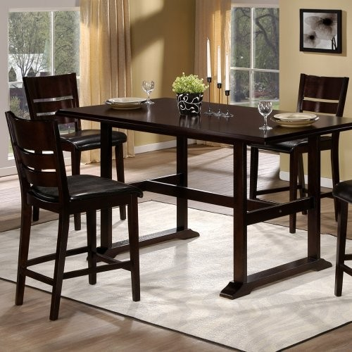 Hillsdale Whitfield Counter Height Trestle Table Contemporary Dining Tabl
