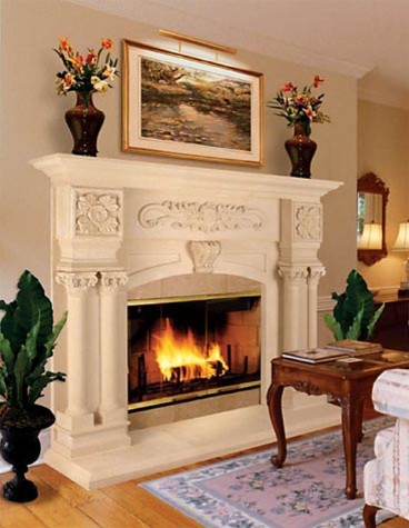 Cast Stone Fireplaces Midcentury Kansas City By Continental Cast Stone Manufacturing Inc