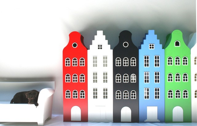 Dutch House Shaped Storage eclectic-toy-organizers