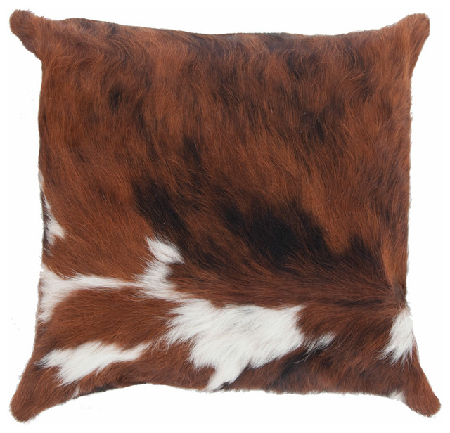 Cowhide Pillow Brown and White modern-decorative-pillows