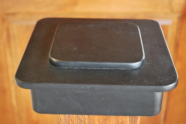 Iron Box Newel Tops eclectic