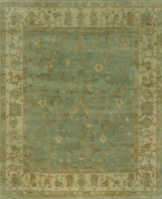 """Loloi Bogart BG-03 7'9"""" x 9'9"""" Aqua, Ivory Rug contemporary-rugs"""