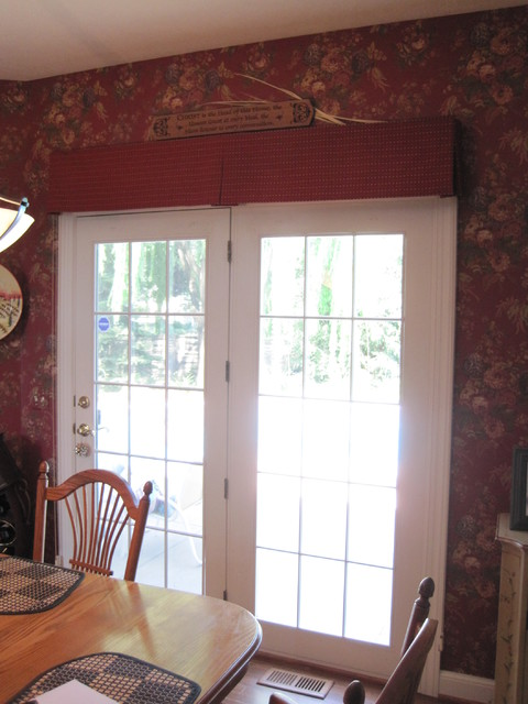 Box Pleated Valance over French Doors - Traditional - by Bellagio ...