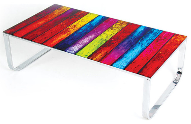 Modern Multi Color Glass Coffee Table Rainbow Modern Coffee Tables San Francisco By