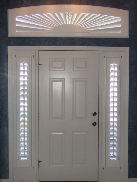 Shutters For Sidelight Windows Modern Entry By