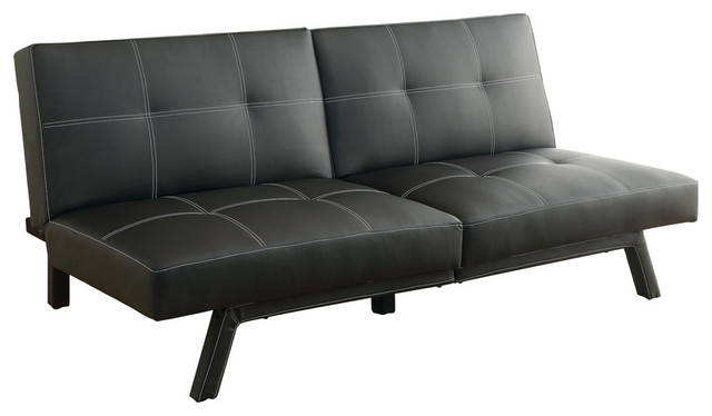 Homelegance only elegant lounger matte black bi cast for Black chaise lounge indoor