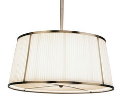 Chase 25.5 Inch Single Pendant with Framed Shade traditional pendant lighting