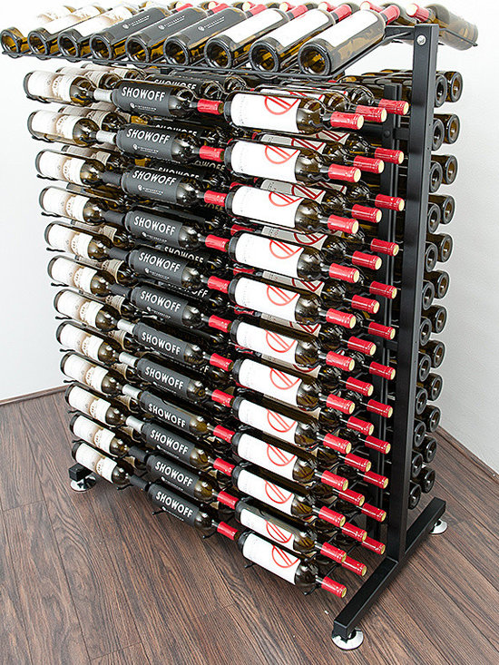 """234 Bottle Island Display Wine Rack - The versatility of this compact Vintage View wine rack extends beyond home to business and retail applications. Perfect as a home wine room centerpiece and great for retail wine displays, these racks withstand heavy use and maintain """"that new look."""" All the hardware you need is included in the package."""