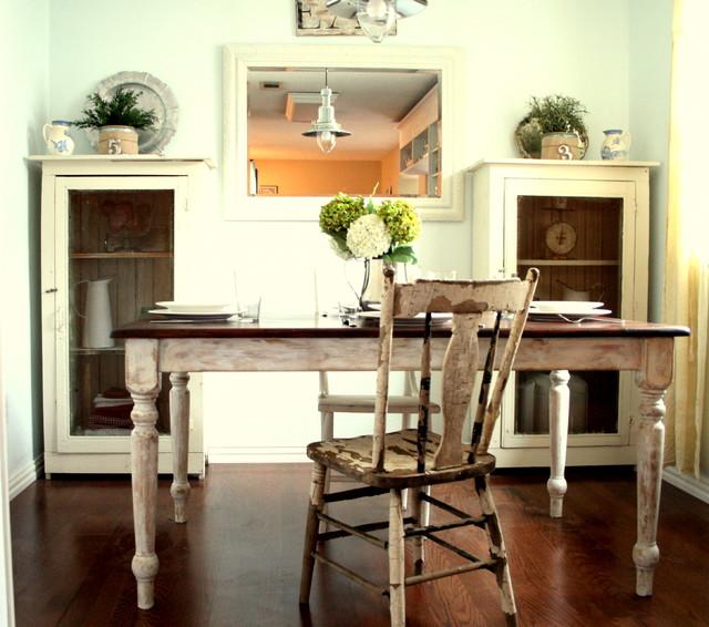 White & Green Cottage Kitchen eclectic-kitchen