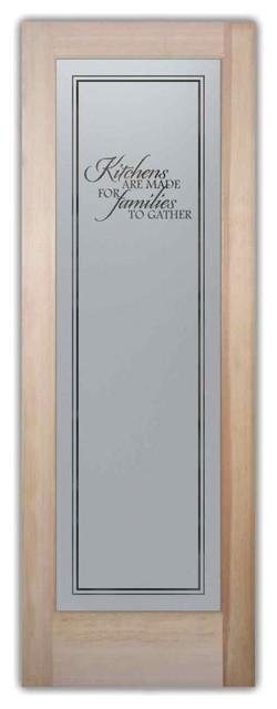 Pantry Door Family Kitchen Etched Glass Door 28 X 1 375 X