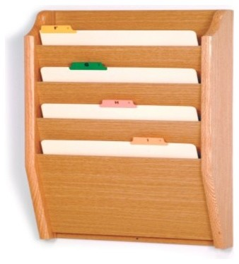 Wooden Mallet 4 Pocket Legal Size File Holder - Modern - Desks And Hutches - by Hayneedle