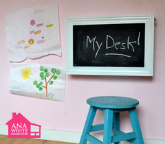 Ana White | Build a Flip Down Wall Art Desk | Free and Easy DIY Project and Furn