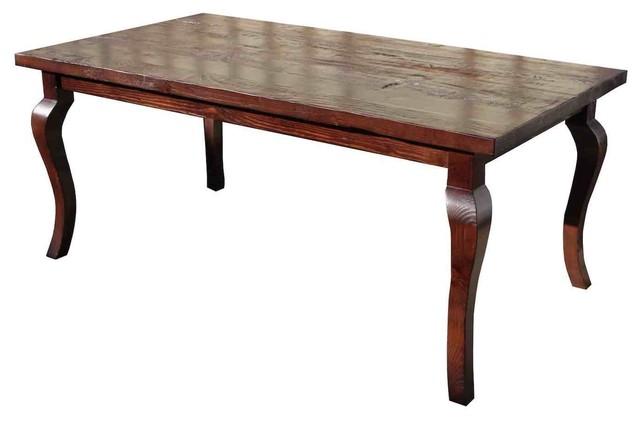 Cabriole Leg Reclaimed Wood Dining Table Eclectic