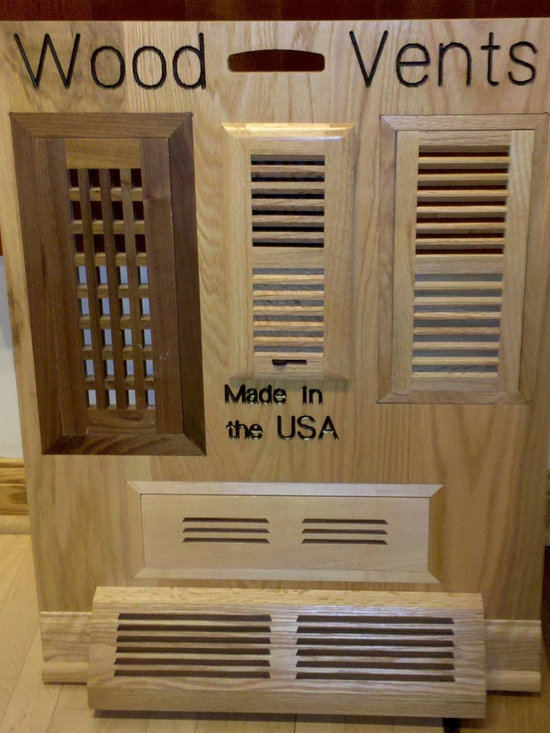 Wood Vents - Ridgefield Wood Vent Display used at Retailers around the USA.