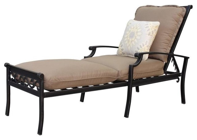 Thomasville Chaise Lounges Messina Patio Chaise Lounge With Cocoa Cushions Contemporary