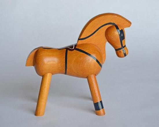 Kay Bojesen Painted Toy Beechwood Horse by Dishing It Up -