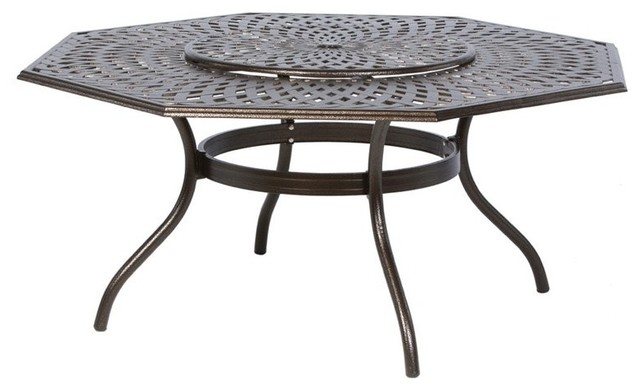 Alfresco Home Kingston Weave 71 in Hexagon Patio Dining  : contemporary outdoor dining tables from www.houzz.com size 640 x 390 jpeg 41kB
