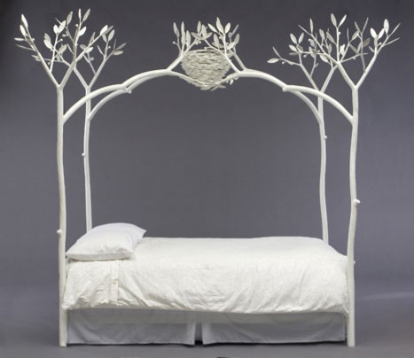 I Would Like To Know The Source For The Metal Canopy Bed Frame With Trees And Bird Nest