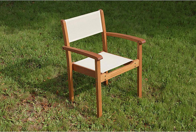 Capri Stacking Chair Contemporary Outdoor Lounge Chairs By