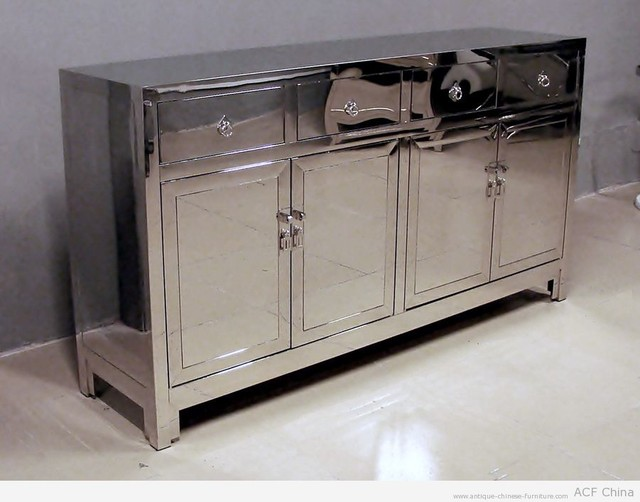 Contemporary Asian Stainless Steel Furniture  Asian