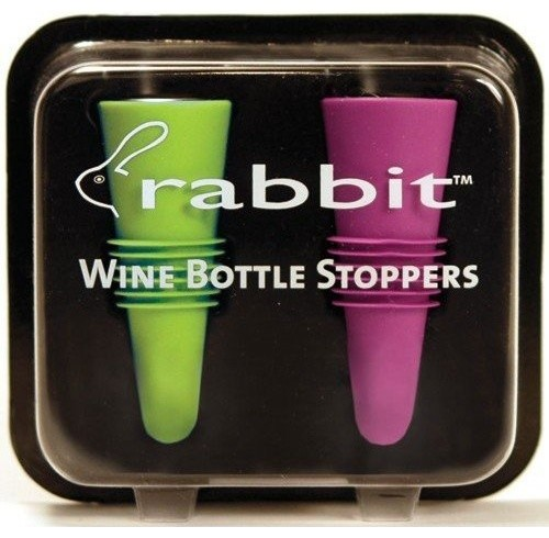 Metrokane Rabbit Wine Bottle Stoppers contemporary-wine-and-bar-tools