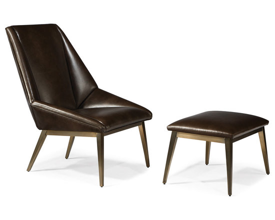 Thayer Coggin - Origami Lounge Chair and Ottoman (brushed bronze) from Thayer Coggin - Thayer Coggin Inc.