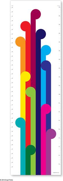 Height Chart, Koru Rainbow contemporary-growth-charts