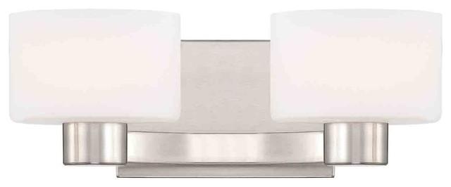 Quoizel TU8602BN Tatum Brushed Nickel 2 Light Vanity contemporary-bathroom-vanity-lighting