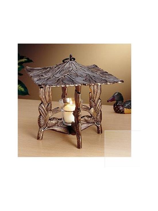 French Bronze Pinecone Twilight Lantern -