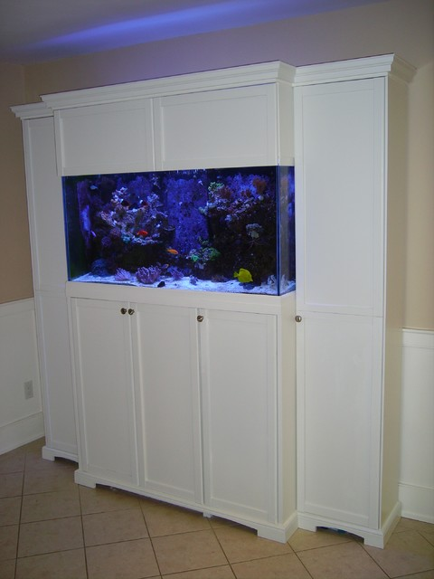 Aquarium cabinet for 90 gallon reef tank traditional for Fish tank cabinets