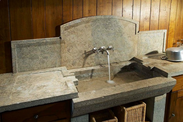 Reclaimed Stone Sink : ... Stone Sinks Antique (Mediterranean Style) mediterranean-kitchen-sinks