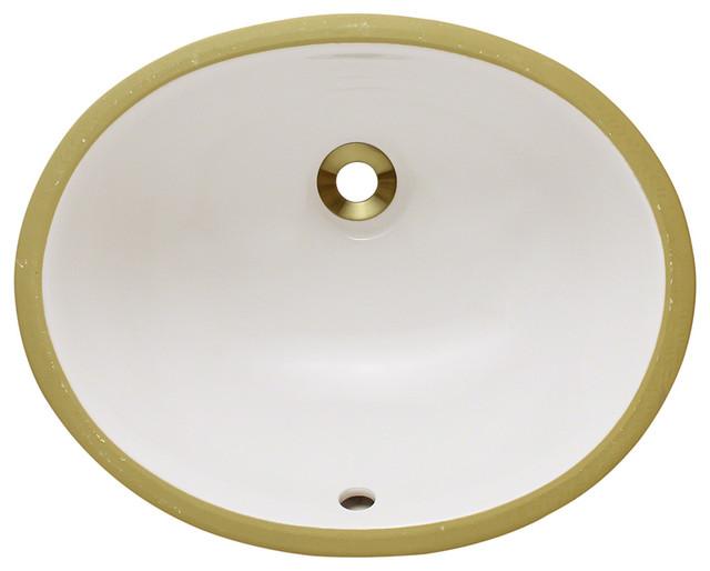MR Direct UPS-Bisque Porcelain Bathroom Sink bathroom-sinks