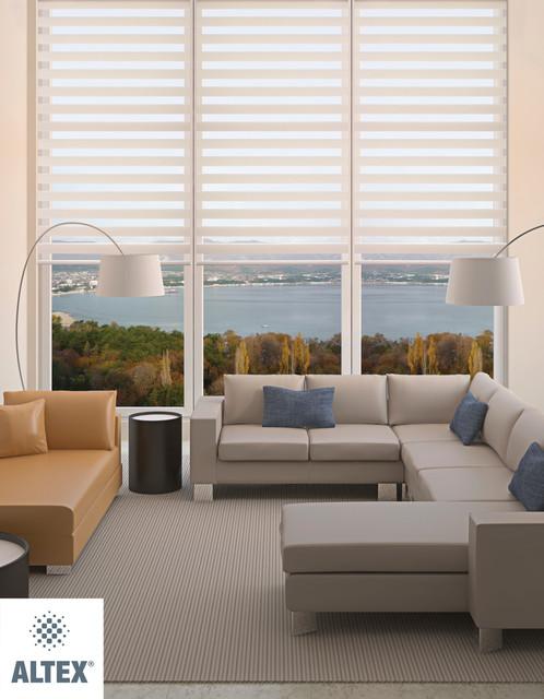 Aleo ambio alternating shades contemporary vertical for Altex decoration