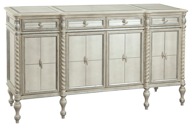 Bassett Mirror Reflections Server in Antique Cream - Contemporary - Buffets And Sideboards - by ...