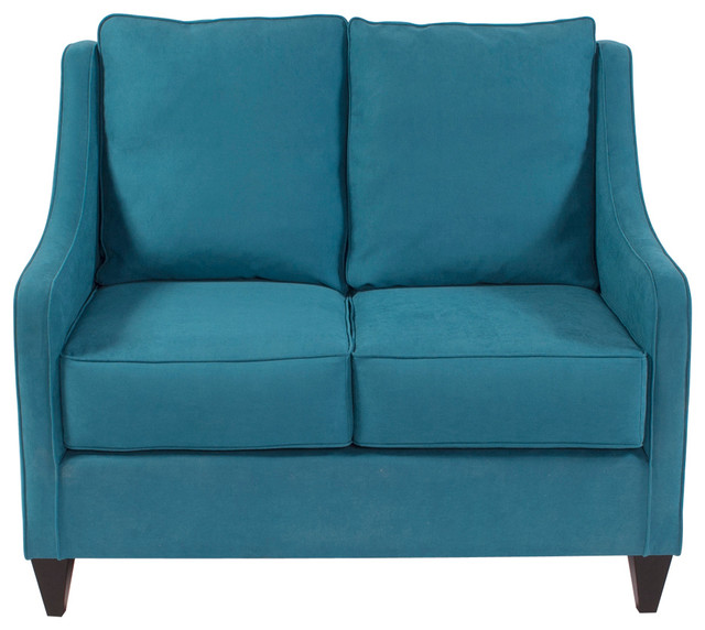 Howard Elliott Mojo Turquoise Side Car Loveseat Contemporary Loveseats By Fratantoni