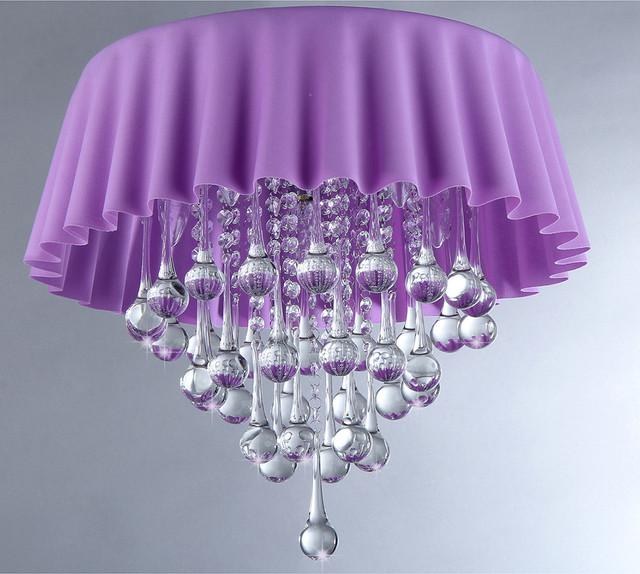 Lavender Crystal Chandelier
