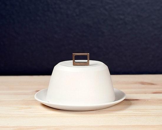 Bronze-Handle Butter Dish -