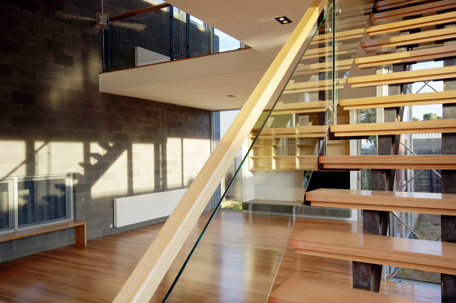 Parker Street House contemporary-staircase