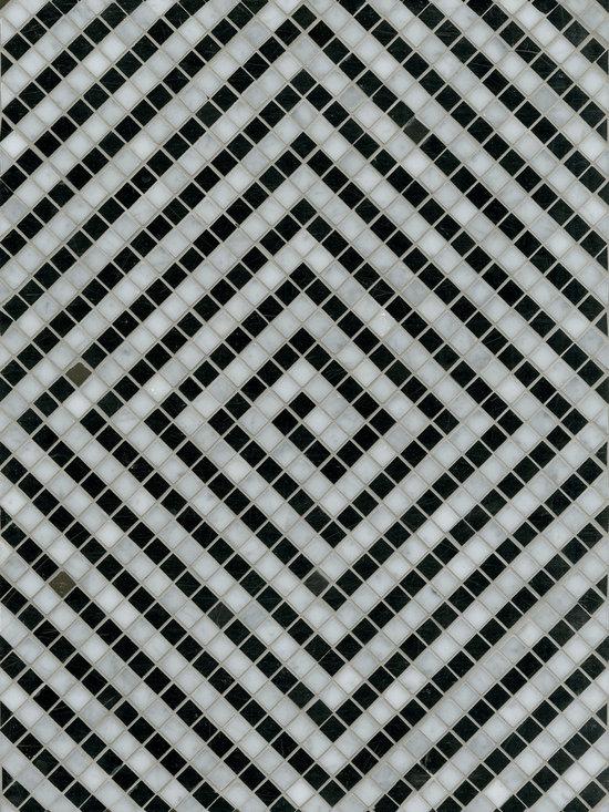 """Maze 12"""" x 16"""" - Carrara, Nero"""