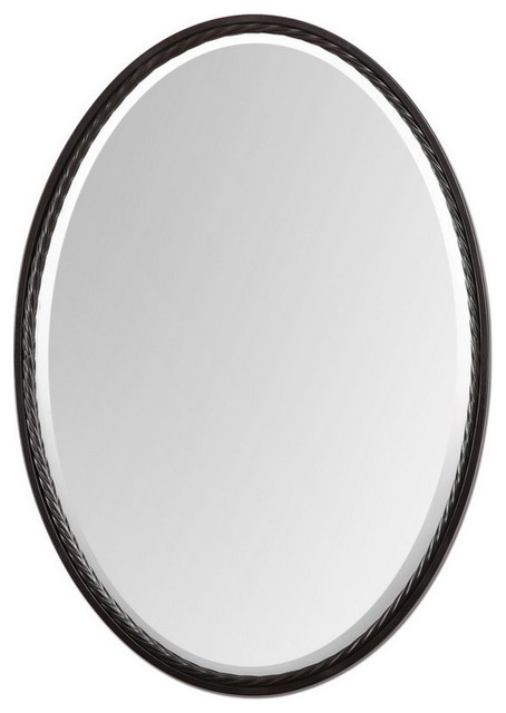 Uttermost 01116  Casalina Oil Rubbed Bronze Oval Mirror transitional-mirrors