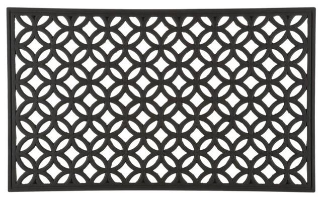 circles rubber doormat modern doormats by crate amp barrel