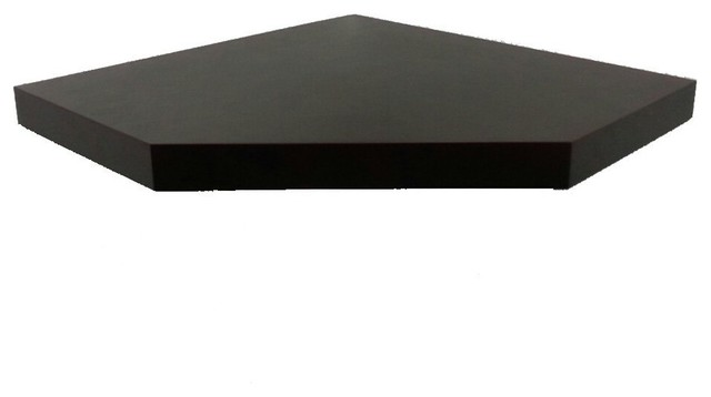 Welland Chicago Wall Floating Corner Shelf, 20-Inch, Espresso - Modern - Display And Wall ...