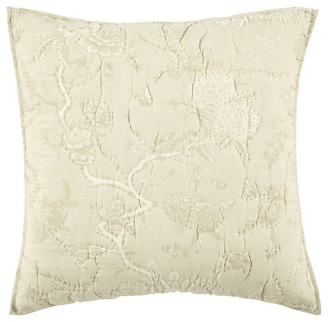 Jardin Toile Quilted Sham traditional-shams
