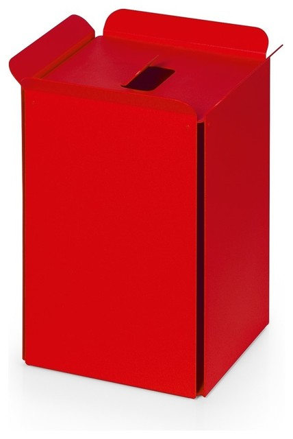 Bandoni 53442.11 Paper Basket in Red contemporary-storage-boxes