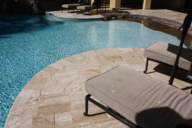 Travertine Pavers - French Pattern Patara Veincut Tumbled ...