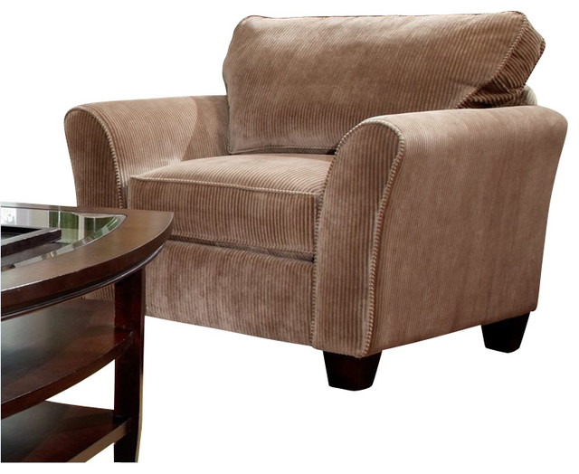 Broyhill maddie microfiber mocha chair with affinity wood